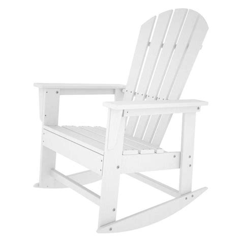 polywood south white patio rocker sbr16wh the home