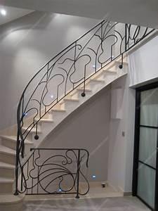Rampe D Escalier Moderne : rampes d 39 escalier en fer forg art nouveau mod le liane arabesque ~ Melissatoandfro.com Idées de Décoration