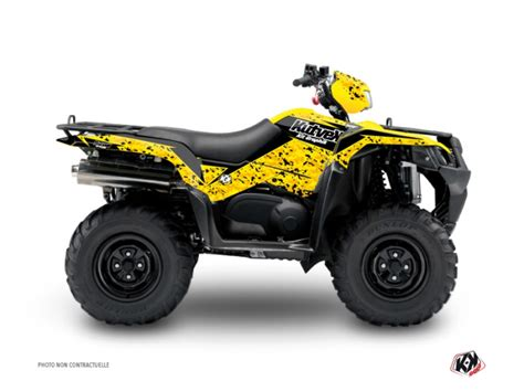 Suzuki King 400 Accessories by Suzuki King 400 Atv Predator Graphic Kit Black Yellow