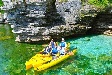 door county kayaking cave kayak tour door county kayak tours whitefish bay