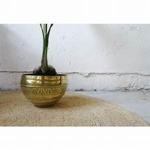 Cache Pot Doré : grand cache pot laiton laiton dor dans son jus vintage 132327 ~ Teatrodelosmanantiales.com Idées de Décoration