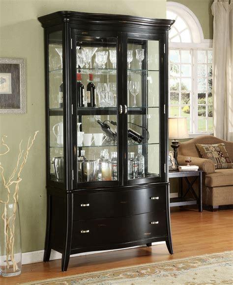 Sterling Curio Cabinet With Glass Door Double Glass Door