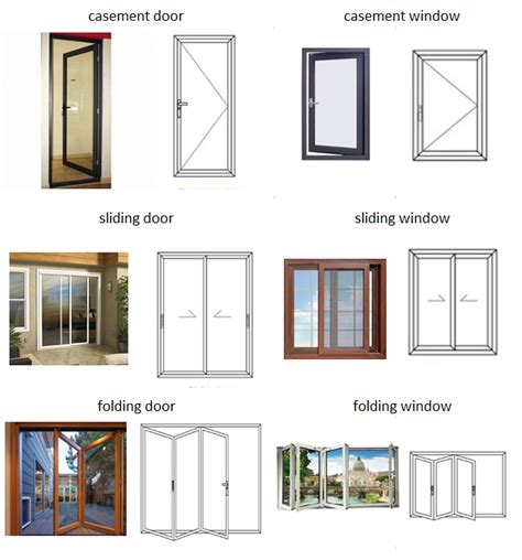 exterior commercial aluminium doors alloy frame folding