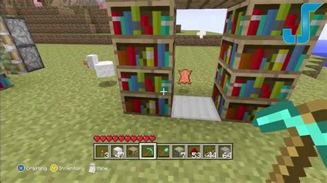 Minecraft Secret Bookcase Door by Minecraft Xbox Secret Library Door Tutorial W Pistons