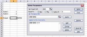 Using Solver In Excel Vba