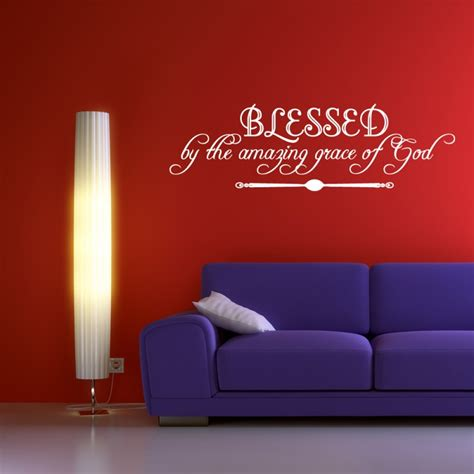 religious wall art decal decor blessed   amazing