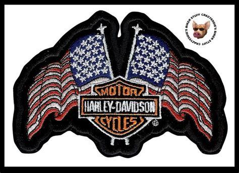Harley Davidson Usa Flags Vest Jacket Patch ** Patriotic