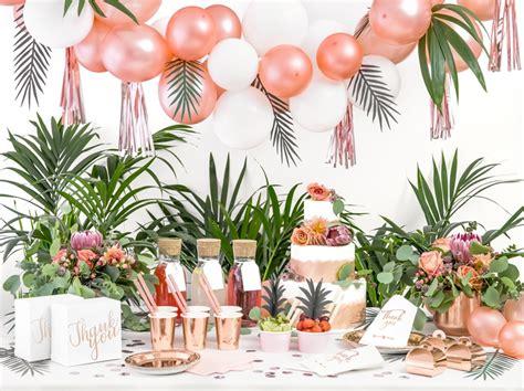 anniversaire tropical party en rose gold