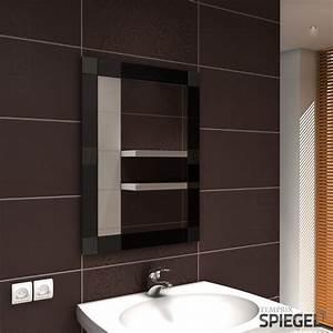 Spiegel Mit Led Rahmen : wandspiegel spiegel mit rahmen badspiegel 80 x 60 cm spiegelwerk opus black ebay ~ Bigdaddyawards.com Haus und Dekorationen