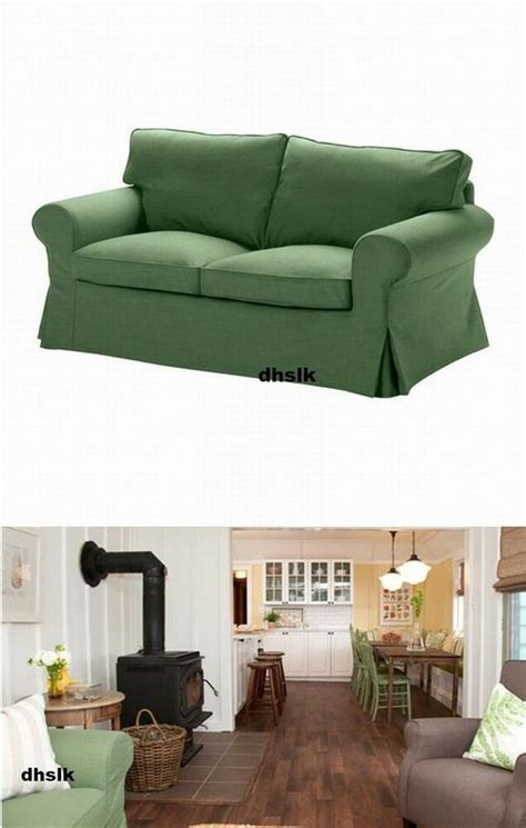 Ikea Loveseat Slipcovers by Ikea Ektorp 2 Seat Loveseat Slipcover Cover Svanby Green