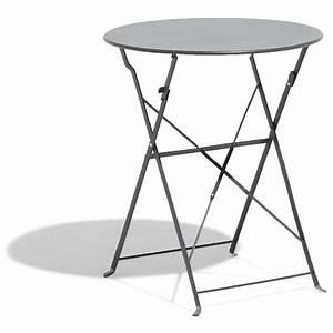 stunning table de jardin ronde pliante images amazing With table jardin metal ronde pliante 8 table ronde