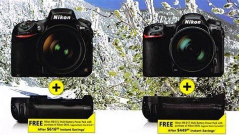 Extended: Free Battery Grip for Nikon D810 & D500 and