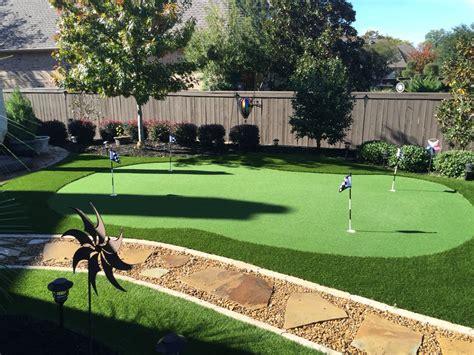 small backyard putting green small backyard putting green no maintenance lots of fun and looks great all year round
