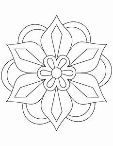 Free coloring pages of rangoli pattern