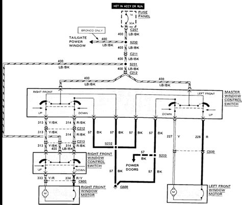 Power Window Wiring Schematic 1999 F 150 by 1990 Ford F 150 Changing Power Window Need Wiring Diagram
