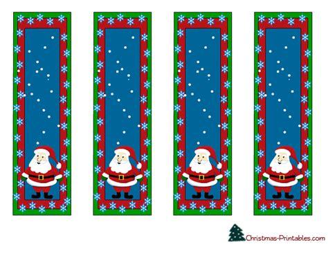 christmas template mark free printable christmas bookmarks