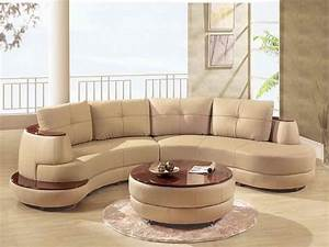 Furniture lether corner sectional curved sofa set with for Curved sectional sofa for small space
