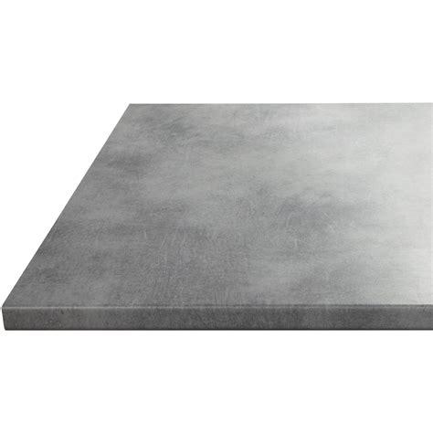 plan de travail cuisine grande largeur plan de travail stratifié effet béton mat l 180 x p 60 cm