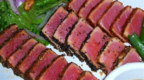 best way to cook tuna steak seared ahi tuna steaks recipe allrecipes com