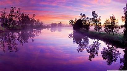 River Wide Reflections Purple Reflection