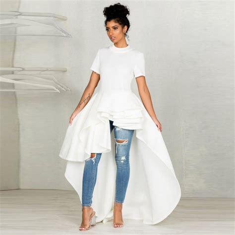 Buy Summer Dress Women Short Sleeve High