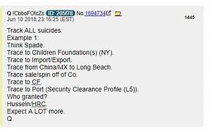 """Q: """"Track ALL suicides."""" 