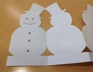 paper chain snowmen snowman paper chain image 6 With snowman paper chain template