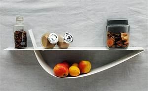 Etagere Cuisine Murale : etag re murale blanche tag re design m tal tablette murale 70 cm ~ Teatrodelosmanantiales.com Idées de Décoration
