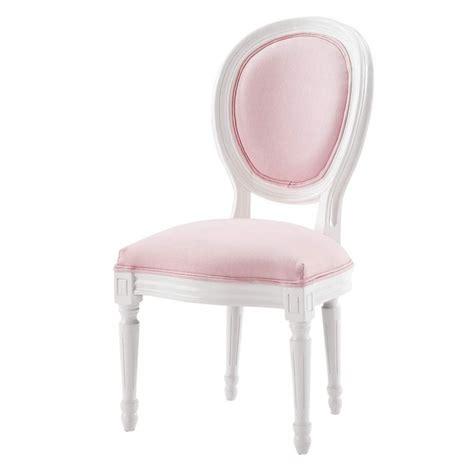 chaisse de bureau chaise médaillon enfant en bois blanche et louis