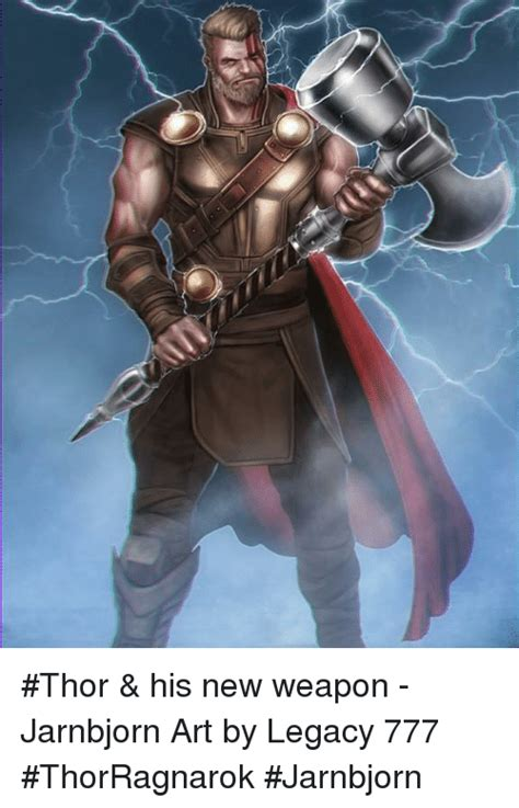 thor his new weapon jarnbjorn art by legacy 777