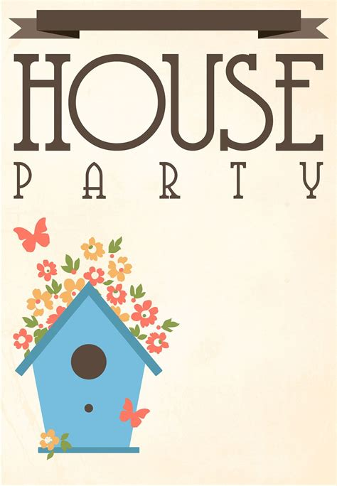 printable house party invitation housewarming