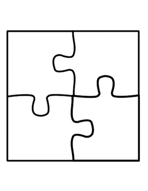 Puzzle Template Puzzle Template Four Jigsaw Puzzle Template