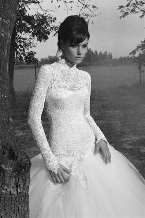 Turtleneck Wedding Dresses For Modest Brides Happyweddcom