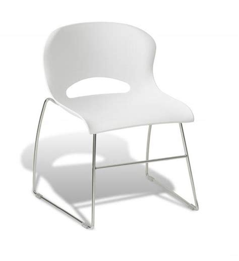 plastic chrome frame office seat in armless office chairs