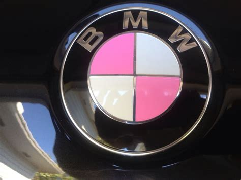 Bmw Roundel Emblem by Pink Bmw Roundel