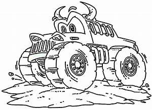 Monster Truck Ausmalbilder Kostenlos