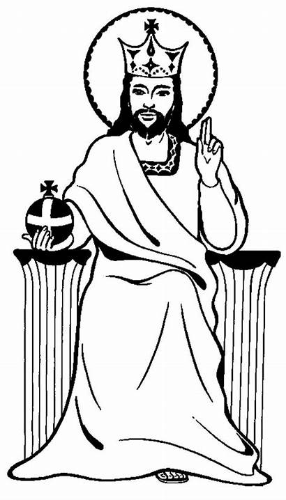 Jesus King Coloring Christ Pages Colouring Drawing