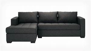 Eq3 porter 2 piece sectional sofa with chaise fabric for Sectional sofa bed eq3