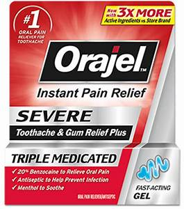 instant oral pain relief gel