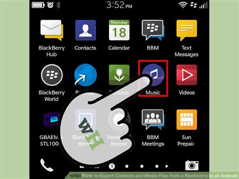 export contacts  media files   blackberry   android