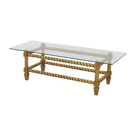 antique glass table ls 76 off antique glass and gold framed coffee table tables