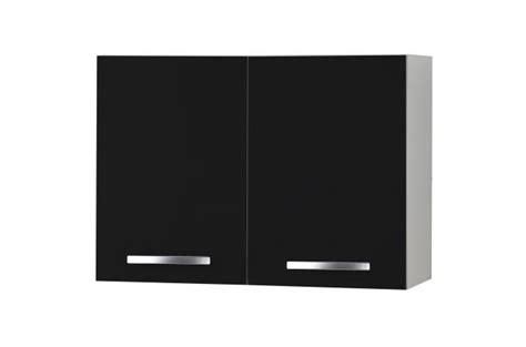 cuisine sans element haut element haut de cuisine à portes noir meuble de