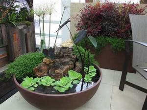 Gardens ideas gardens ponds container gardens water for Indoor water garden ideas