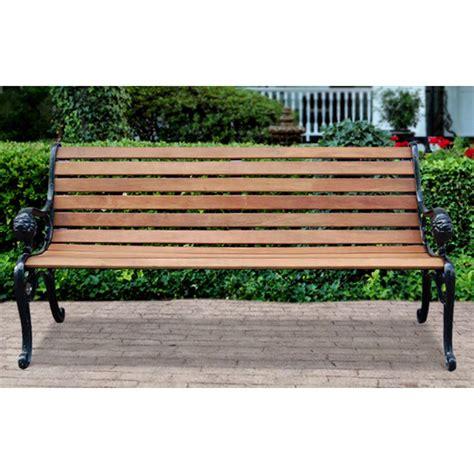 Lion Park Bench  Cast Iron Ends  232005, Patio Furniture