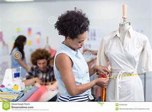 Female Fashion Designer At Work Stock Photo - Image: 50484494