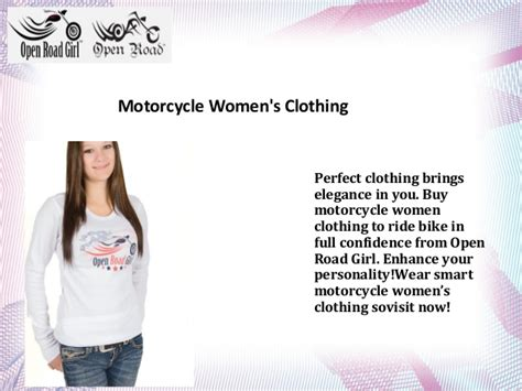 Motorcycle Women's Clothing At Open Road Girl Apparel Online