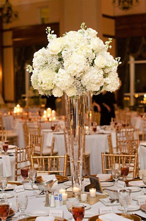 hydrangea centerpiece  tall vase google search mag