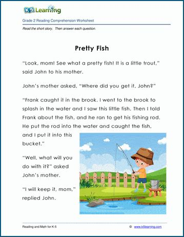 pretty fish grade  childrens fable  learning