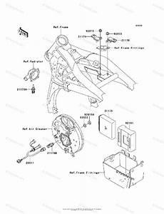 Kawasaki Motorcycle 2006 Oem Parts Diagram For Fuel Injection
