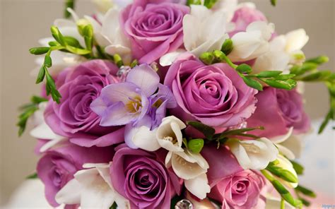 pictures beautiful purple white flowers bouquet